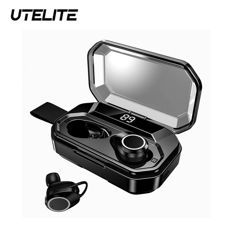 Auricular inalámbrico UTELITE X6 Pro, Bluetooth TWS 4000mAh, sonido táctil 8D, auriculares estéreo para juegos, para Iphone, Xiaomi, auriculares Samsung
