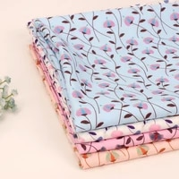 flowers pattern polyester fabric by the meter fabric sheets for sewing clothes dresses hand sewing textile supplies 45145cm 1pc