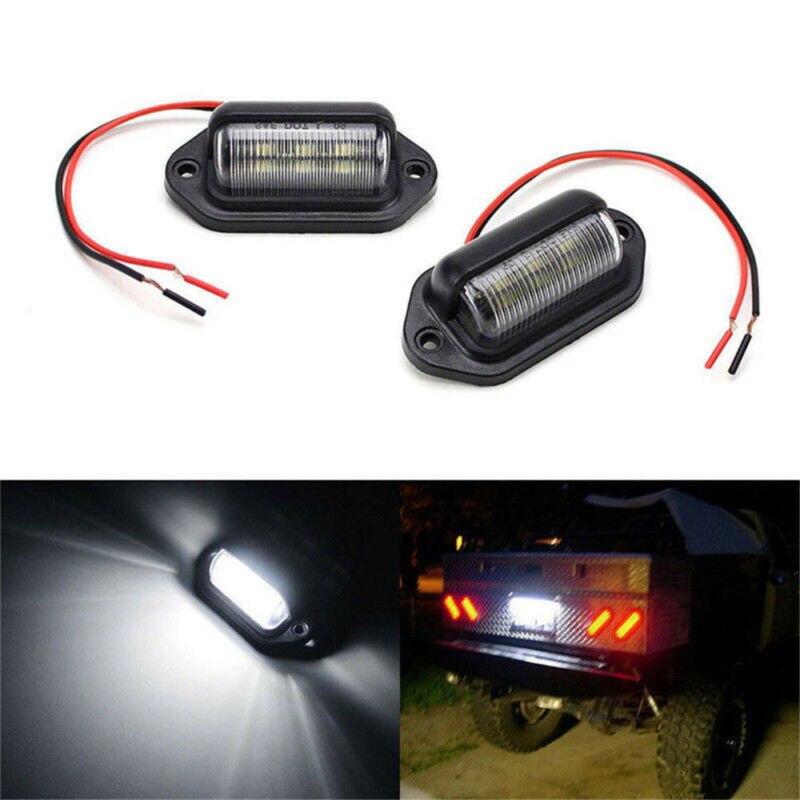 Водонепроницаемая IP65 6-светодиодная лампа 12 В для подсветки номерного знака грузовика прицепа лампа для подсветки автомобильного номерног...