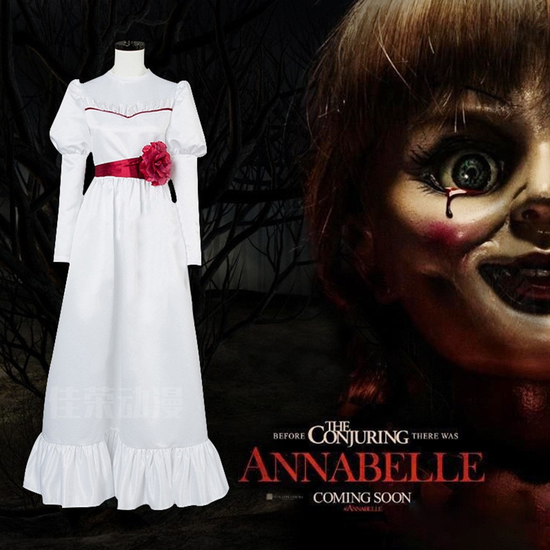 Noiva de chucky dia das bruxas menina vestido boneca annabelle cosplay traje para crianças adulto halloween filme de terror traje