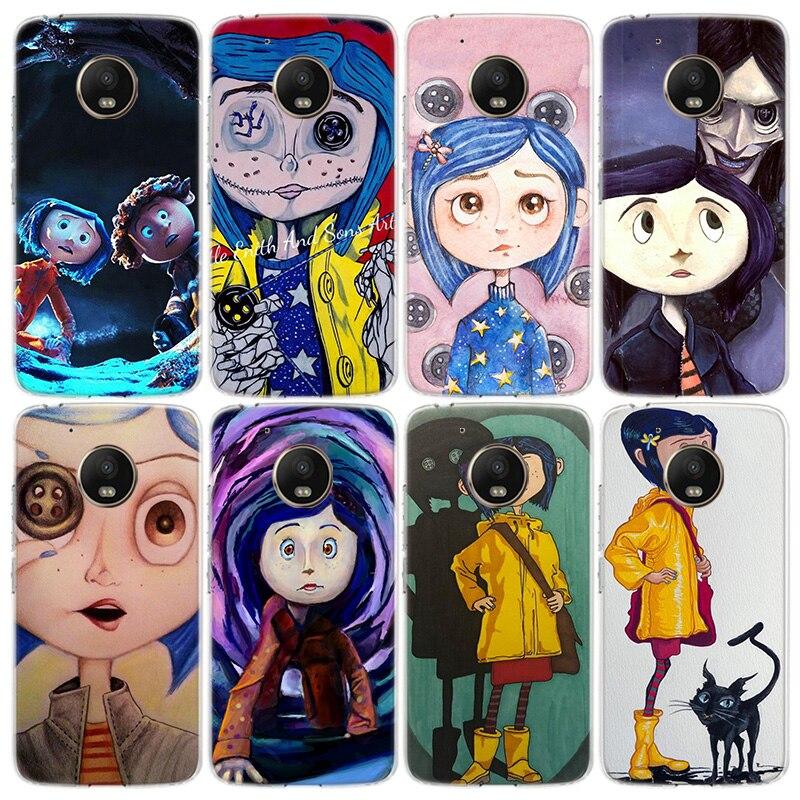 Coraline y La Puerta mágica teléfono caso para Motorola Moto G8 G7 de G6 G5 G5S E6 E5 E4 Plus jugar G4 una acción X4 UE cubierta