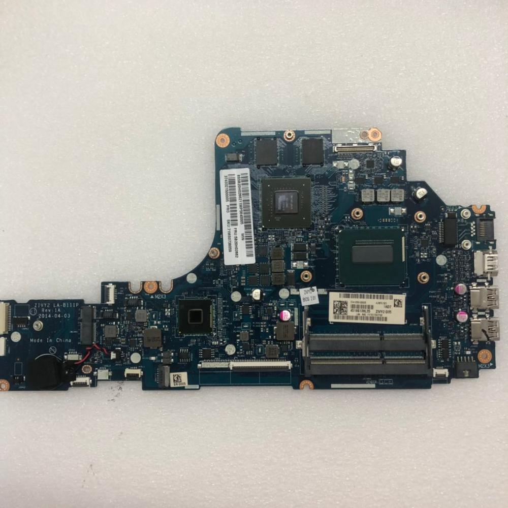 ZIVY2 LA-B111P بلاكا-mãe الفقرة لينوفو Y50-70 portátil بلاكا-mãe i7 cpu gtx860m teste الأصلي بلاكا-mãe دفتر موافق