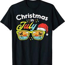 Christmas In July Sunglasses Santa Beach Summer Summer Xmas T Shirt