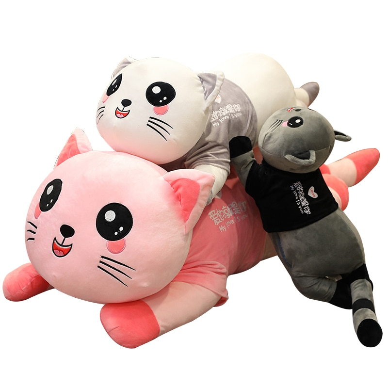 Lovely Cat that Massages Cushion Novelty Special Use Plush Toys Kawaii Pillow Stuffed Animals Baby D