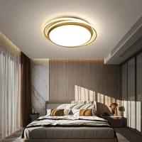 modern led round ring ceiling lamp bedroom furniture light live room decoration lamp kitchen 220v decor loft lighting for home