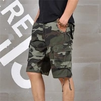 high quality summer mens loose multi pocket military short mens loose straight camouflage shorts casual five point pants milit