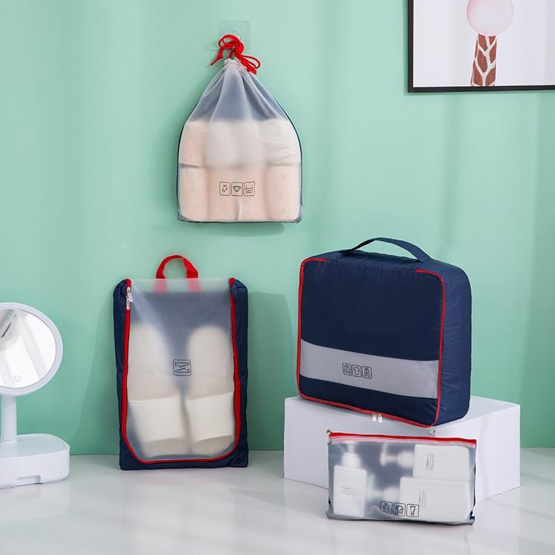 Портативная одежда Бюстгальтер шкаф для обуви путешествия Сортировка Органайзер сумки набор туалетных принадлежностей мыть мешок на молн...