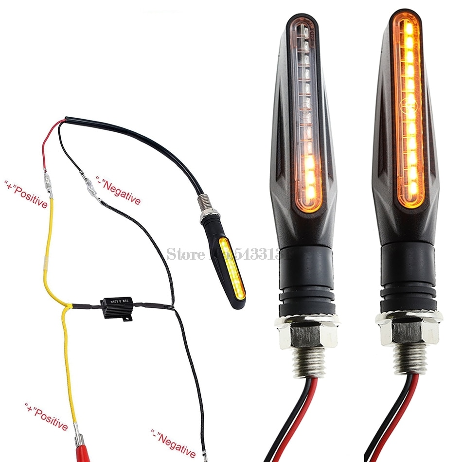 100% decoder LED Motorrad blinker Für Vespa Sprint Kawasaki Er 5 Zxr 400 Kawasaki Z750 Rmz 450 Wasser Fließt abdeckung