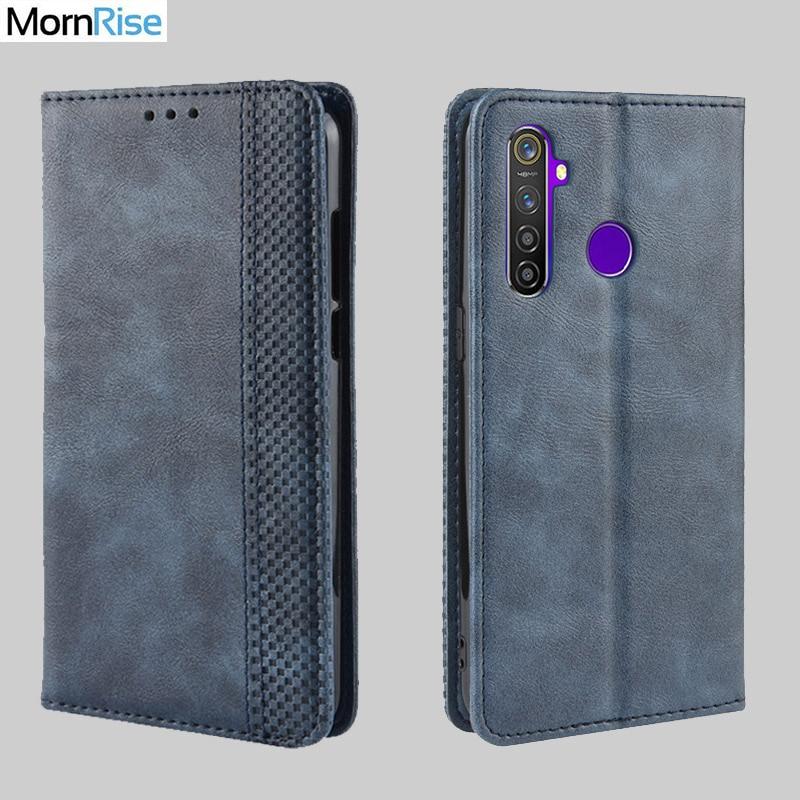 Чехол-книжка в винтажном стиле для OPPO Realme 5 Pro, тонкий кожаный чехол-книжка с магнитной застежкой и подставкой для карт, мягкий чехол, роскошные сумки для мобильных телефонов