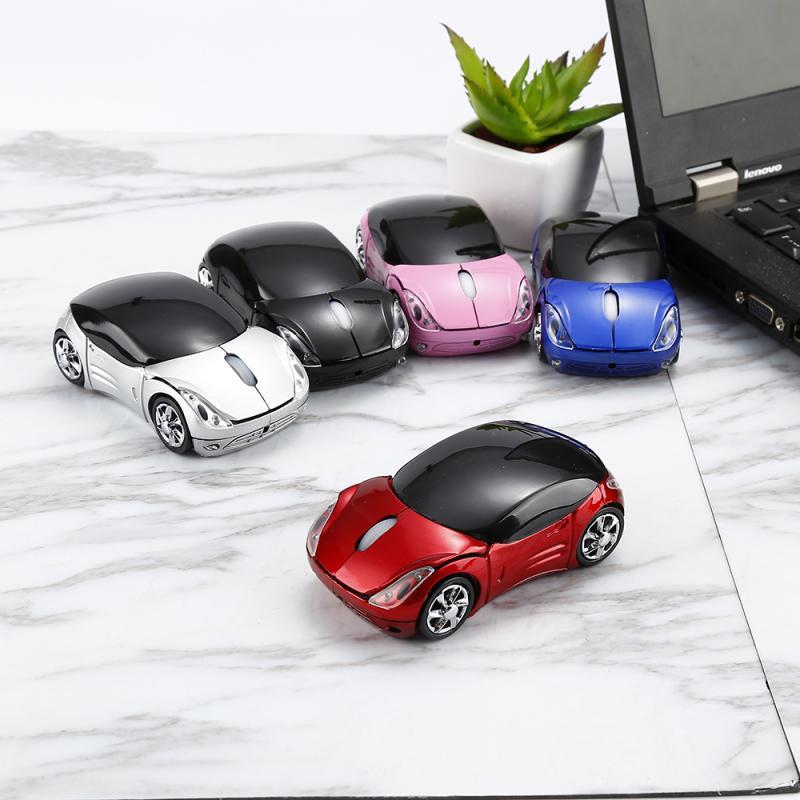 2,4 Ghz Ratón Óptico inalámbrico estilo de coche de ratón de juego con receptor USB con Bluetooth ratón inalámbrico para PC ratón Gaming para portátil