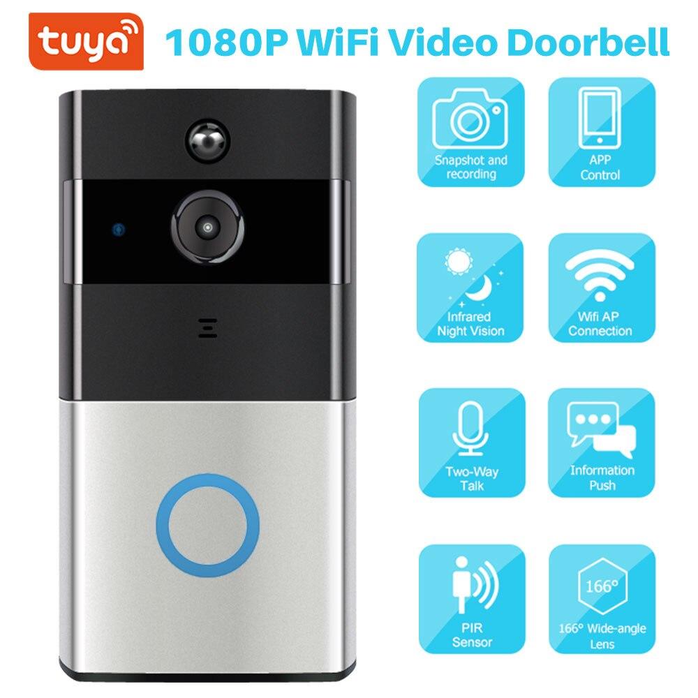 Tuya Smart Video Türklingel 1080P WiFi Video Intercom SmartLife APP Fernbedienung Drahtlose Tür Glocke Kamera Home Security Monitor