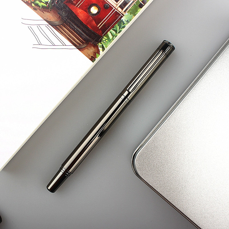 Luxury Office Fountain Pen Metal Signature Fountain Pen 0.38MM Nib  Writing Gift Students Stationery Office School Supplies fuliwen perfect upscale silvery scales hewn fountain pen office writing gift pen free shipping