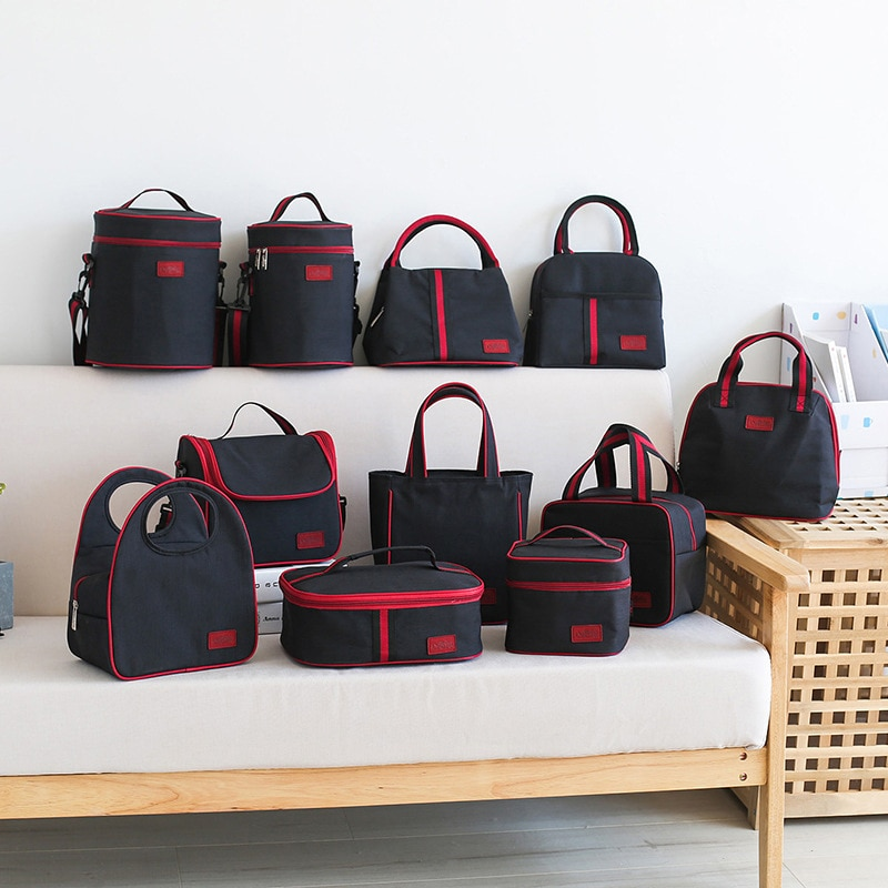 Thermal Lunch Bag Women Portable Insulated Cooler Bento Tote Family Travel Picnic Drink Fruit Food Fresh Organizer Accessories