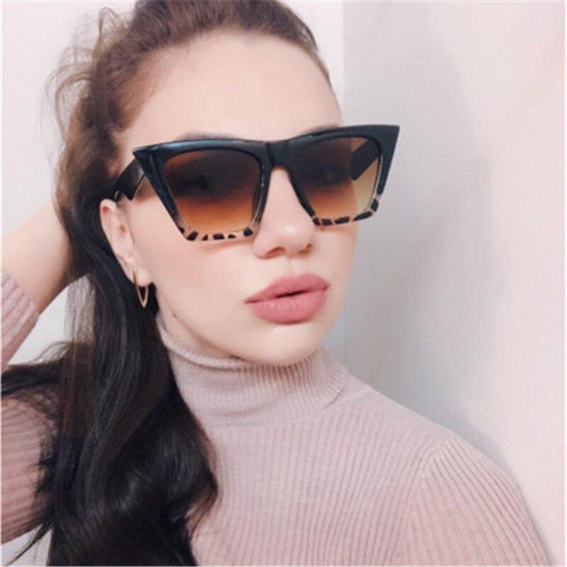 Female Vintage Sunglasses Women Fashion Cat Eye Luxury Sun Glasses Classic Shopping Lady Black Oculos De Sol UV400