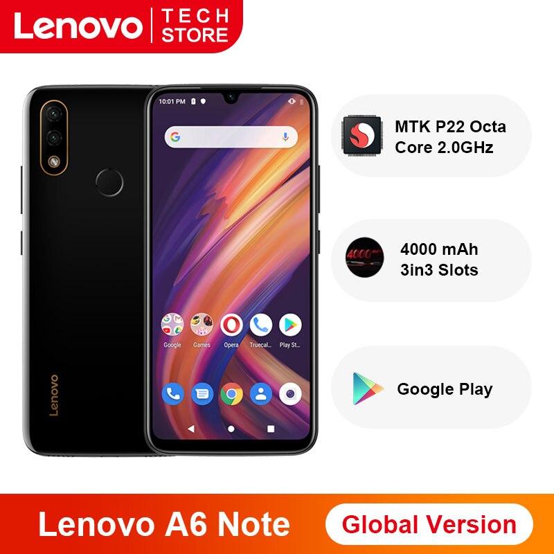 "Original versión Global Lenovo A6 nota 3GB 32GB MTK P22 Octa Core 6,09 ""pulgadas Smartphone 4000 mAh Dual a las cámaras de 19,5: 9"