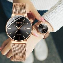 GIMTO 2018 marque femmes montres 32mm or Rose mode Quartz Bracelet amoureux dames montre de luxe femme horloge relogio feminino