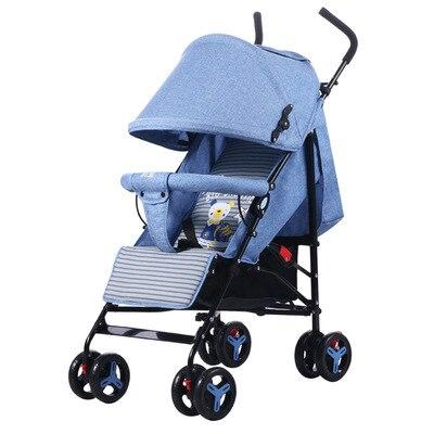 عربة أطفال خفيفة للغاية محمولة قابلة للطي عربة أطفال ممتص للصدمات يمكن الجلوس والاستلقاء عربة أطفال BB