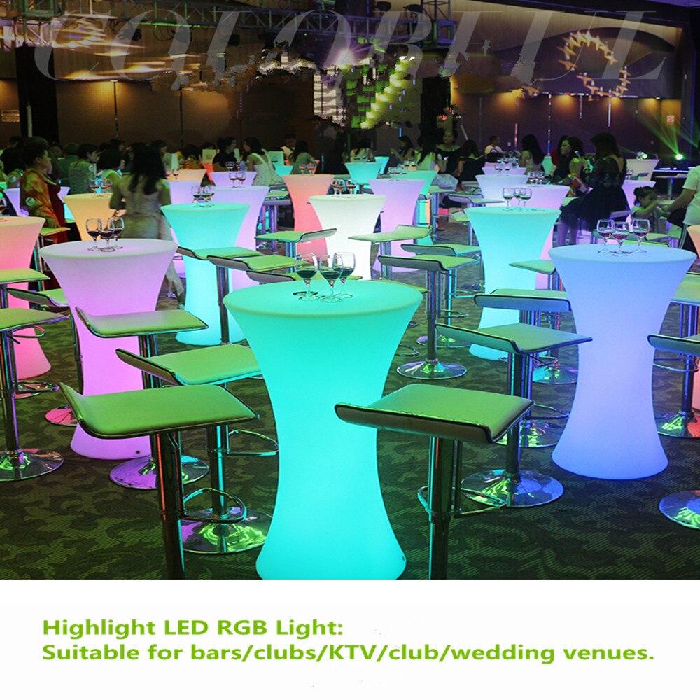 جديد 110 سنتيمتر الارتفاع قابلة للشحن طاولة كوكتيل بمصباح IP54 طاولة النبيذ مقاوم للماء القهوة شعاع ضوء لنادي الديسكو لوازم الحفلات