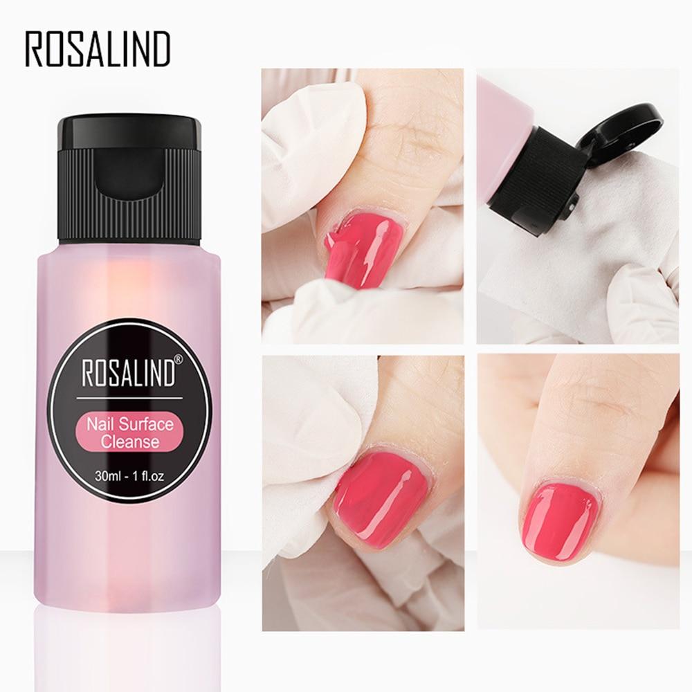 ROSALIND 30ml Nail Degreaser Removes Excess Gel Enhances Shine UV LED Nail Gel Polish Remover Nail A