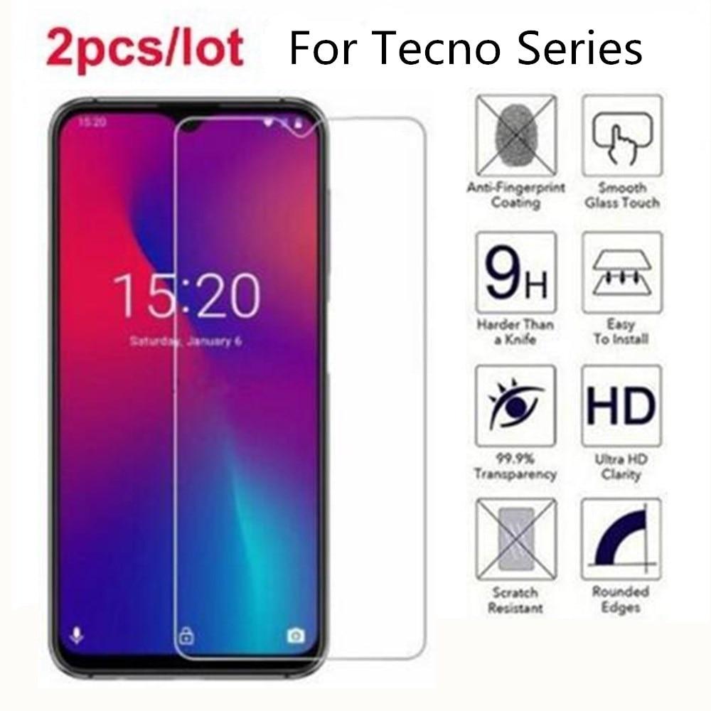 Vidrio templado para Tecno Camon 11 pro 11S 2.5D película protectora de pantalla Premium en Tecno Camon 12 2S chispa 3 16 1 2 Pouvoir 2 pro