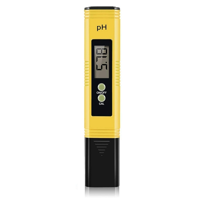 Digital PH Meter, PH Meter 0.01 PH High Accuracy Water Quality Tester with 0-14 PH Measurement Range with ATC