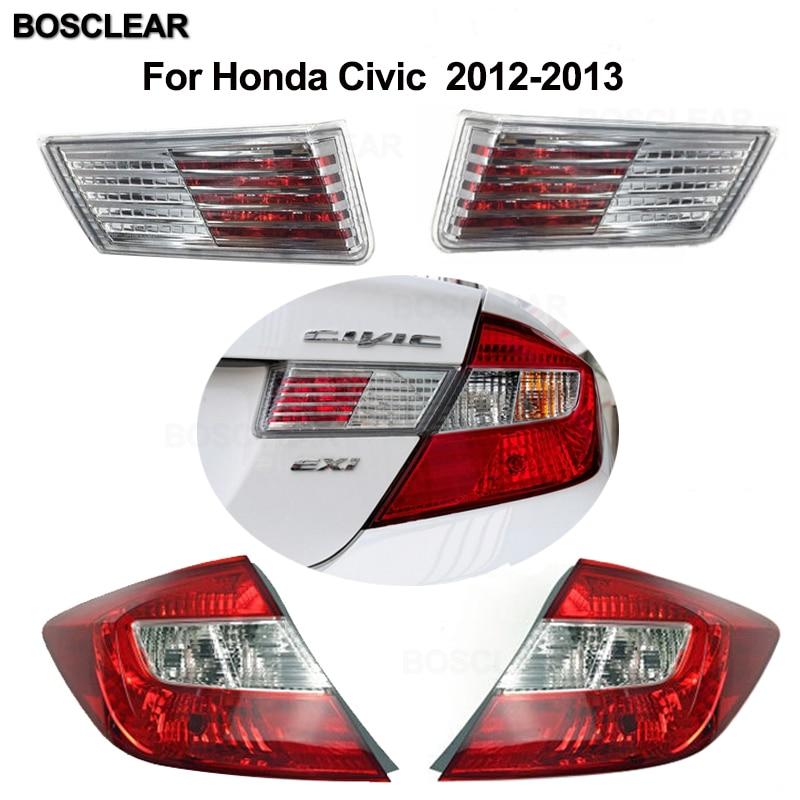 Farol traseiro luzes da cauda lâmpada luzes traseiras sem lâmpada para honda civic 2006 2007 2008 2009 2010 2011 2012 2013 gx sedan