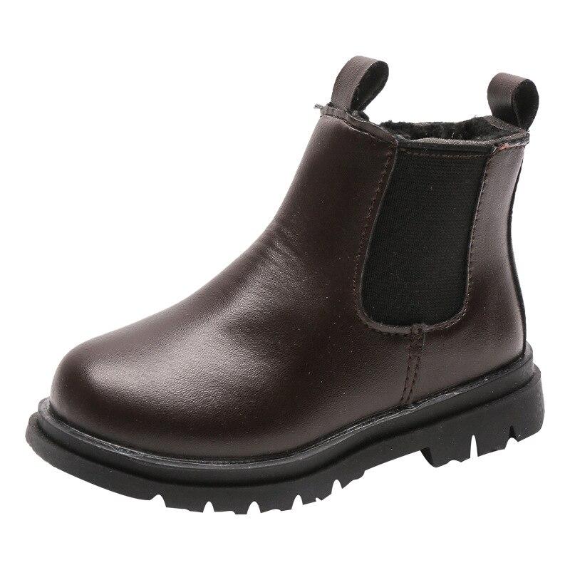 Crianças do vintage botas de neve preto marrom rosa plataforma crianças botas de pele para meninas do bebê da criança dos meninos sapatos manter quente d10242 Botas    -