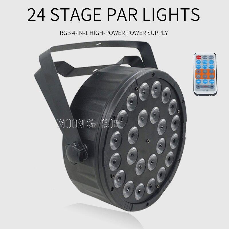 luz par de led com controle remoto 24x12w rgbw 4 em 1 dmx512 equipamento para festa