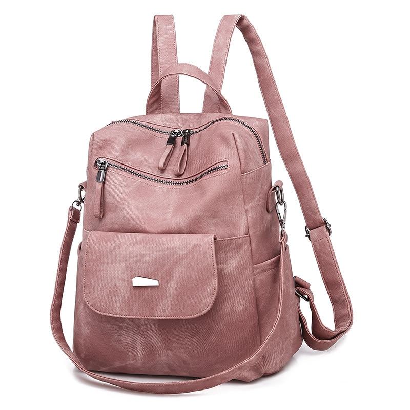 Fashion Women Pu Leather Backpacks Luxury Ladies Small Shoulder Bag Designer Travel Bag New Casual School Bags for Teenage Girls