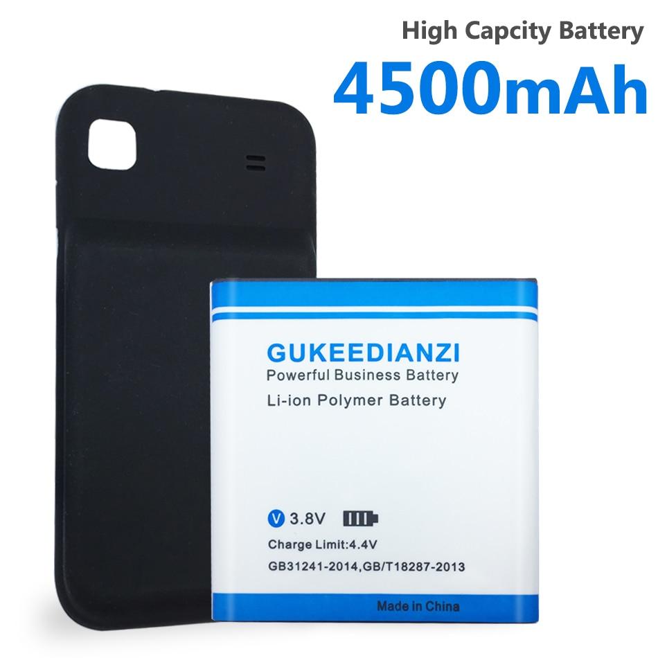 4500mAh fortement batterie EB575152LU pour Samsung Galaxy S GT I9000 Li-ion téléphone remplacer batterie prolongée + couverture de porte arrière gratuite