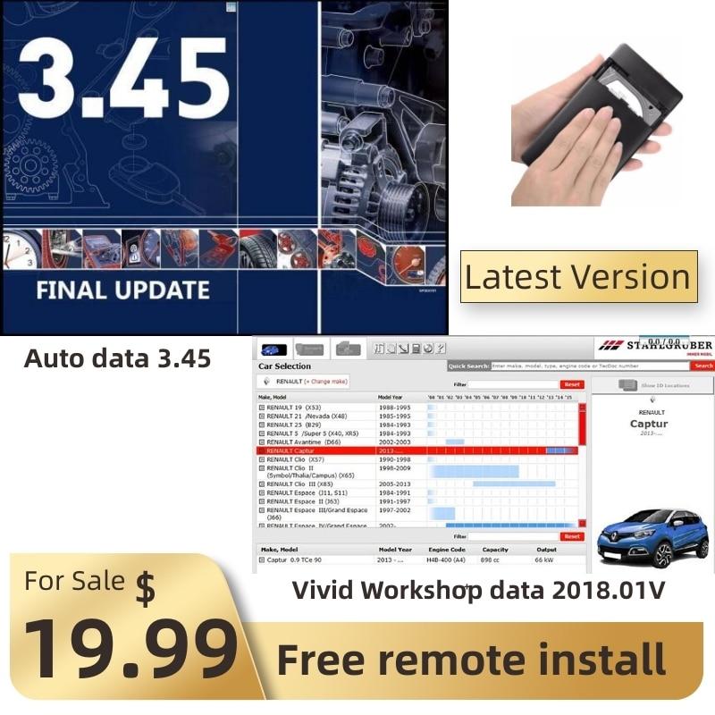 Лидер продаж 2021, программное обеспечение для ремонта данных автомобиля 3,45 и 2018,01 в, программное обеспечение для удаленной установки obd, диаг...