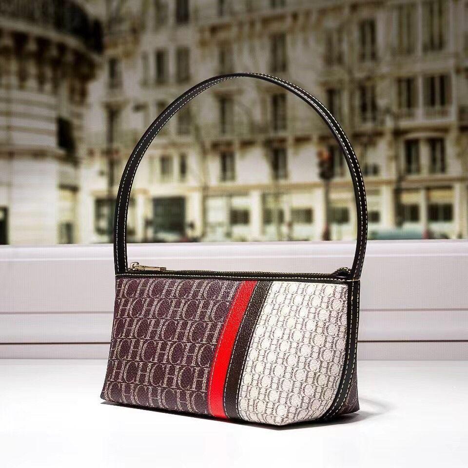 100% جلد طبيعي حقيبة يد 2021 جديد Fasion CH طباعة حقائب النساء حقائب اليد الاستخدام اليومي حقائب فاخرة العلامة التجارية مصمم المحافظ