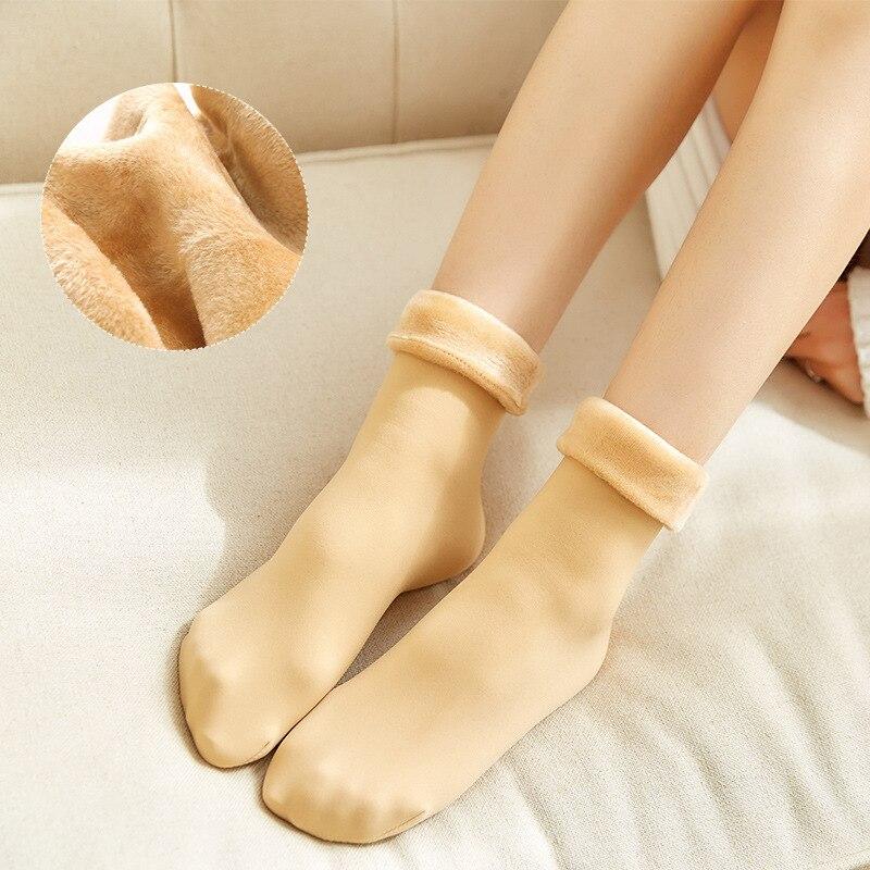 1 пара женских носков, зимние теплые толстые носки для женщин черного цвета