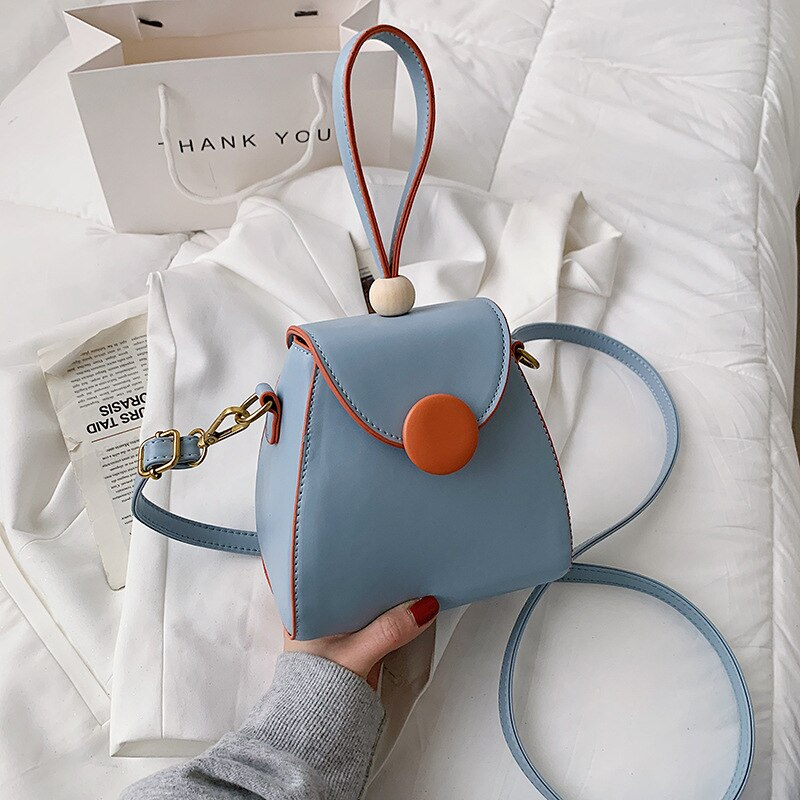 High-quality Cute and Sweet Mini Portable Zongzi Bag Female Bag for Spring and Summer 2021 New Korean Fashion Contrast Color Bag