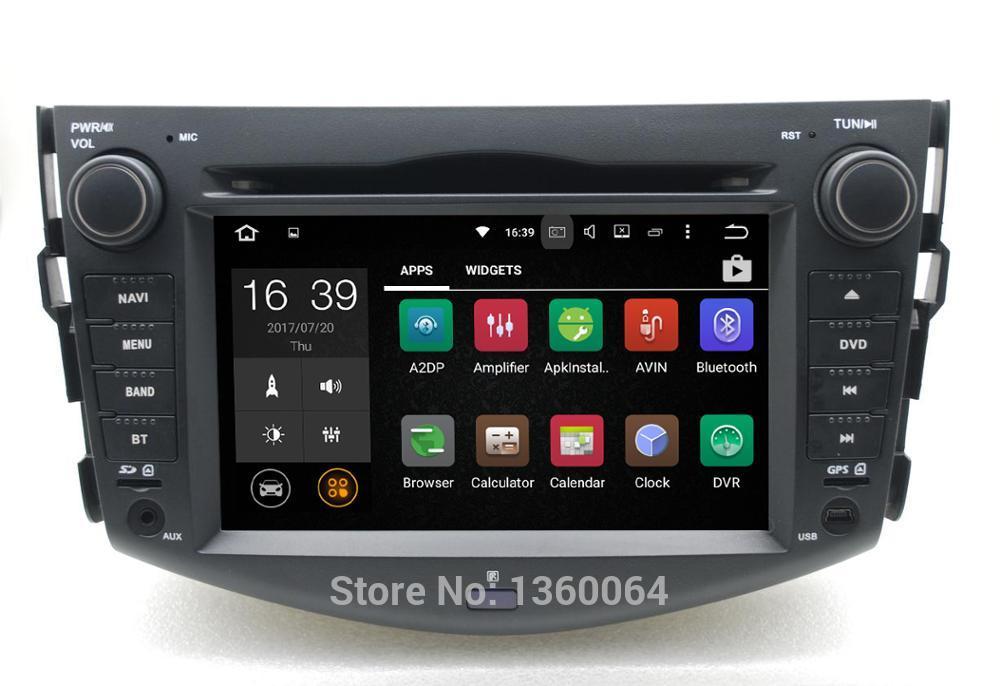 Procesador px3 de núcleo cuádruple 2G RAM Android 7,1 coche DVD GPS para Toyota rav4 2007, 2008, 2009, 2010, 2011, 2012 Radio estéreo Bluetooth Wifi 3G