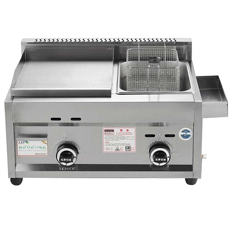 Gas Grill Deep Fryer Machine Commercial Grill Squid Fryer Oden Cooking Machine Stainless Steel Teppanyaki Equipment kitchen equipment smokeless energy saving stainless steel electric induction griddle machine electrical contact grill