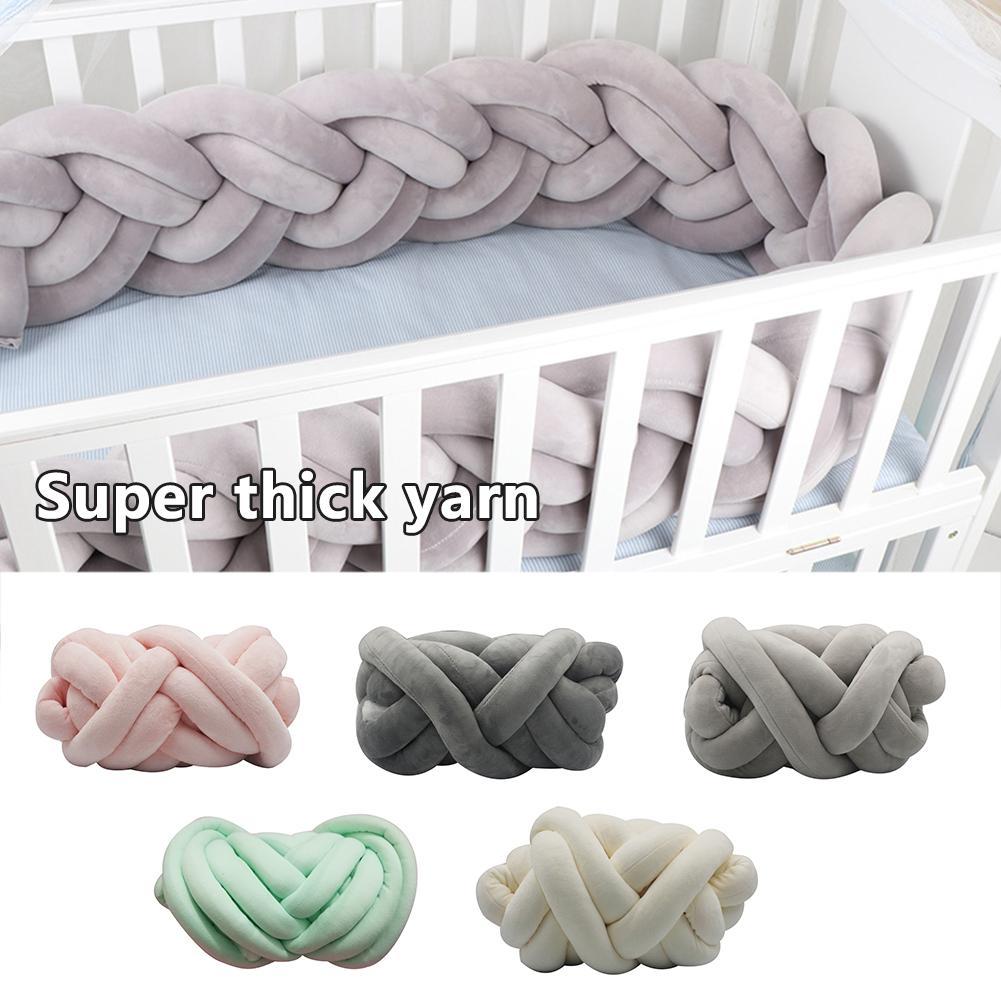 5 cm/1.97in comprimento nodic nó recém-nascido pára-choques longo nó trança travesseiro cama do bebê pára-choques no berço infantil decoração do quarto