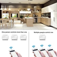 Switch Module WiFi Smart Relay Switch Home Light 1-gang 2-way 2 4GHz Wireless Remote Control Modul for Tuya Smart Smart Life