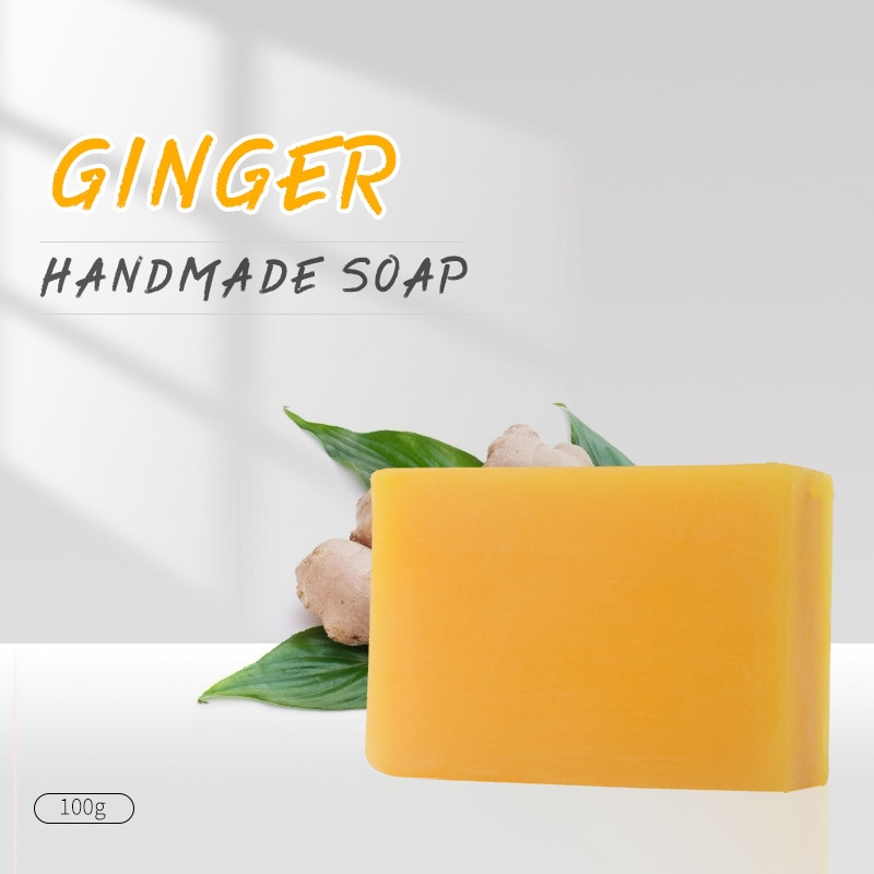 Ginger Soap 100g Natural Oil Handmade Face Whitening Anti-bacterial