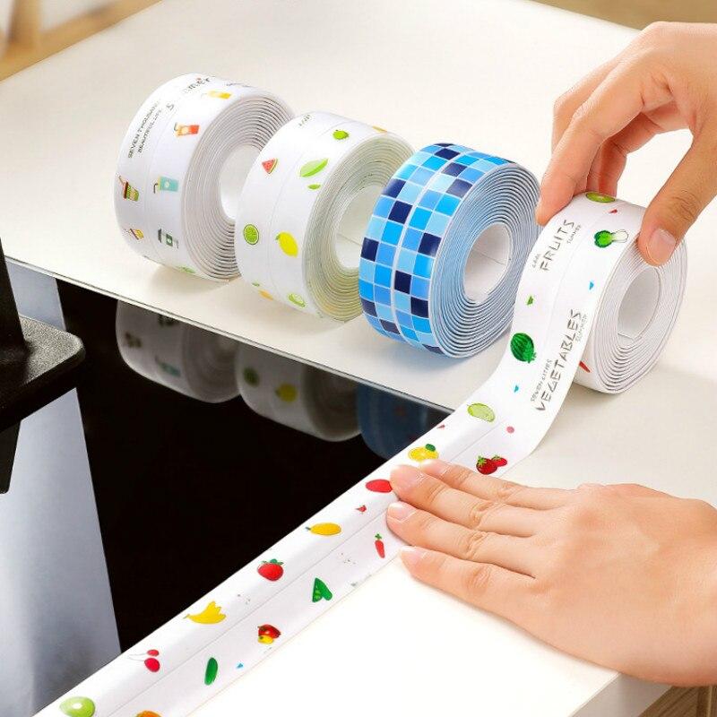 بالوعة المطبخ ملصق مضاد للمياه المضادة للماء الشريط الحمام كونترتوب المرحاض الفجوة ملصقات التماس ذاتية اللصق