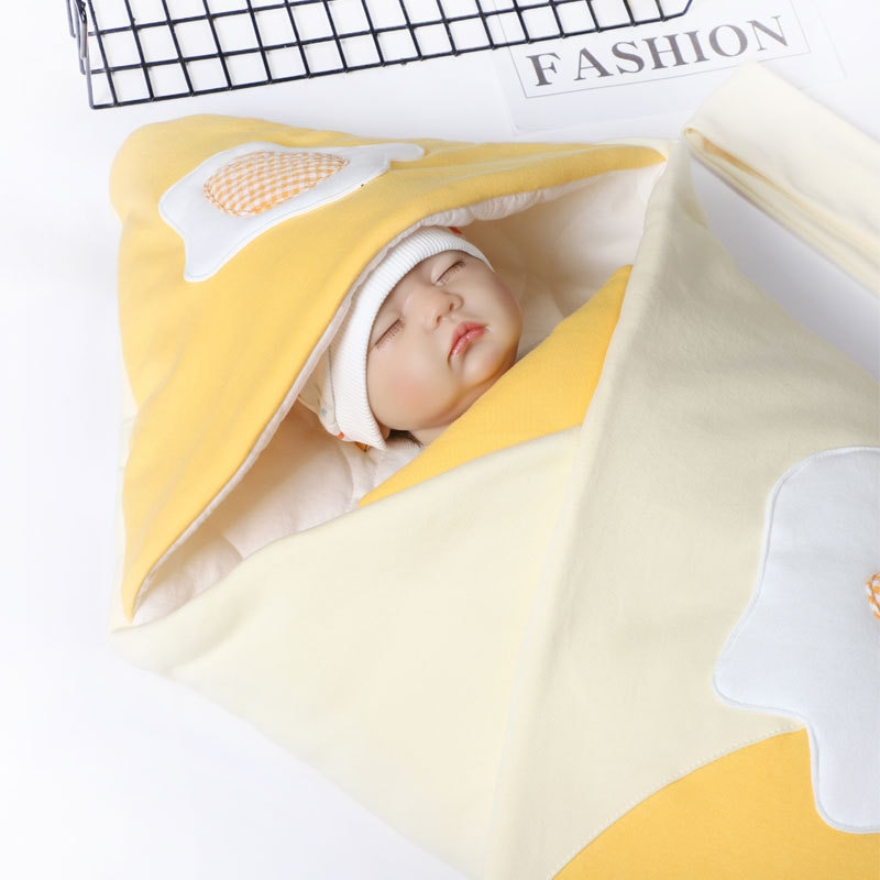 0-2years 88X88cm Baby Swaddle Blanket + Cap Newborn Cocoon Wrap Cotton Swaddling Bag Baby Envelope Sleep sack Winter Bedding