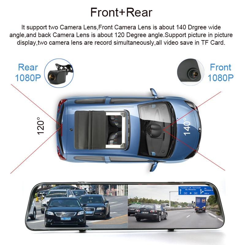 Anfilite 12 inch smart rear Mirror navigator Android 8.1 GPS wifi Bluetooth Dash Camera 1080P dual camera ADAS Remote monitor