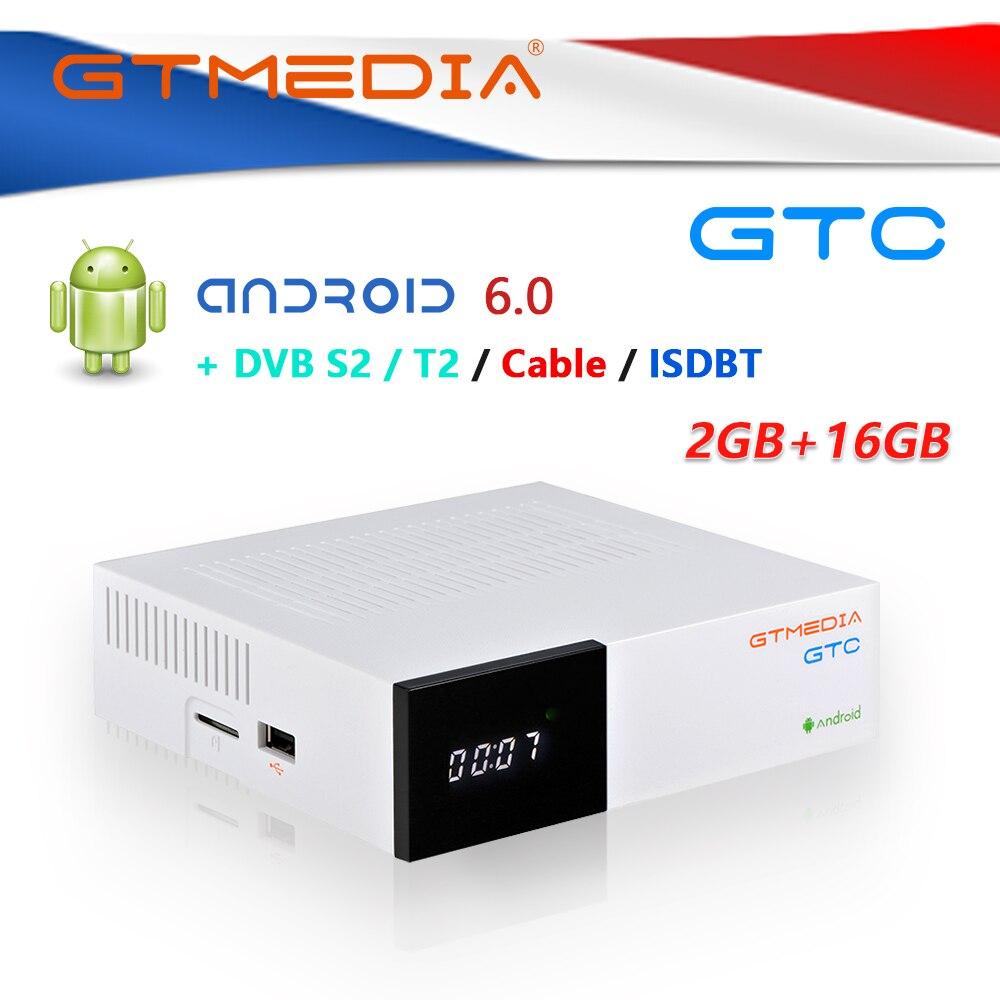 [POLAND]GTmedia GTC Android 6.0 TV BOX DVB-T2/S2/Cable/ISDBT Amlogic S905D satellite receiver iptv m3u cccam PO CZ RO channel