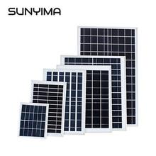 SUNYIMA-chargeur solaire polycristallin   Panneau solaire 3W 6W 10W 15W 18W 5V 6V 12V, cellules solaires, batterie pour lampadaire