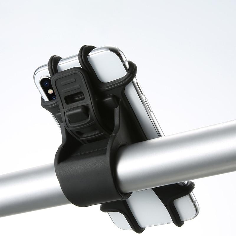 Soporte de teléfono de bicicleta soporte GPS soporte de bicicleta soporte de montaje de manillar para iPhone Samsung soporte de teléfono móvil 4 ~ 6,3 pulgadas