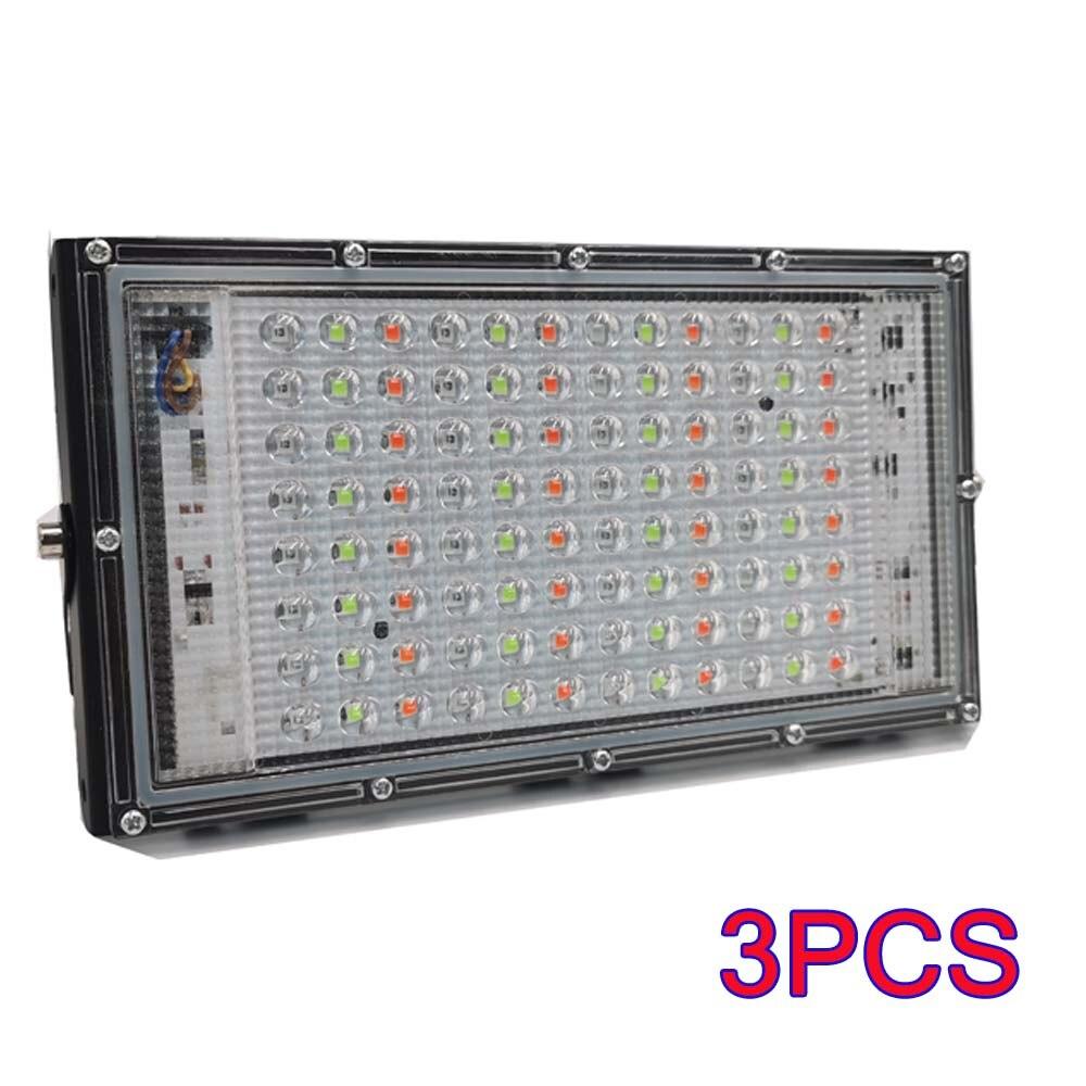 3 قطعة/الوحدة مقاوم للماء IP65 RGB 100 واط Led ضوء الفيضانات التيار المتناوب 220 فولت 240 فولت الأضواء العارض الشارع إضاءة خارجية الجدار مصباح الأضواء