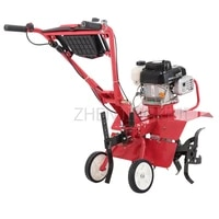 small four stroke gasoline micro tillage machine agricultural orchard vegetable field arable land ditching weeding rotary tiller