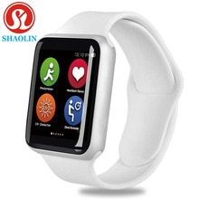 Bluetooth montre intelligente hommes smartwatch étui pour iphone samsung xiaomi android montre intelligente Series4 apple montre 4 (bouton rouge)