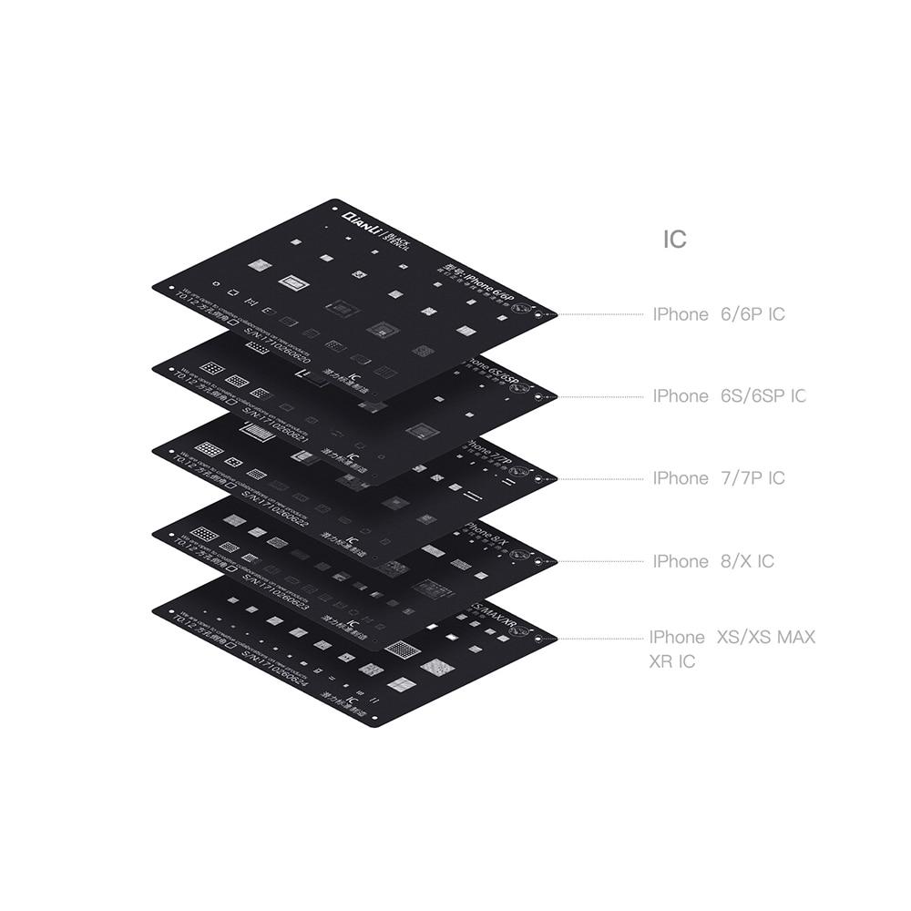 QIANLI plant tin black net For iPhone 6 6P 6S 6SP 7 7P 8 X XS XS MAX XR IC Repair planting tin Net platform