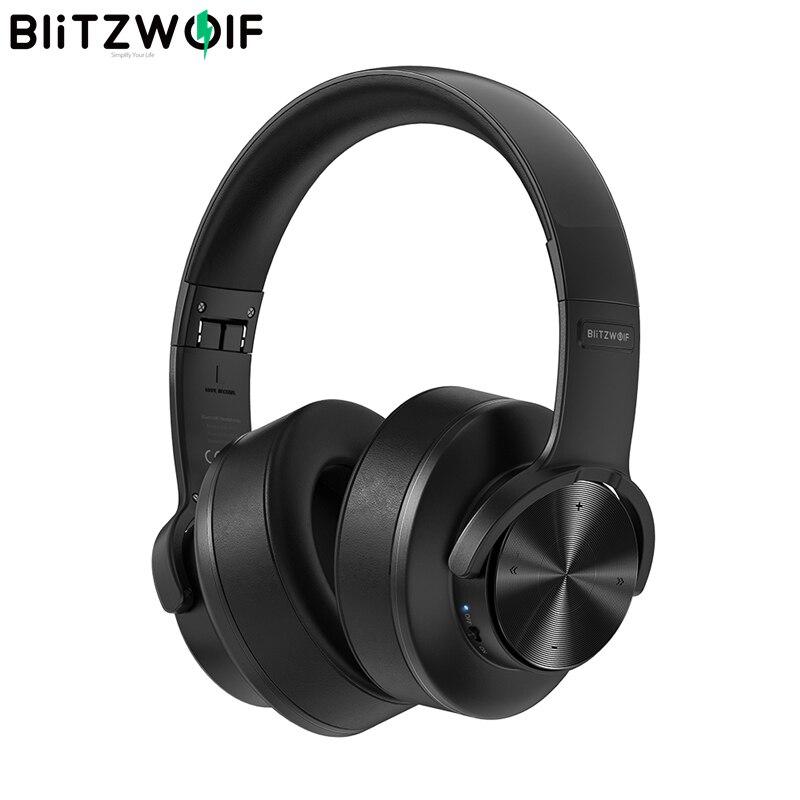 BlitzWolf BW-HP2 بلوتوث-متوافق سماعة التحكم باللمس سماعات رأس لاسلكية 50 مللي متر سائق 1000 مللي أمبير الإفراط في الأذن سماعة الألعاب